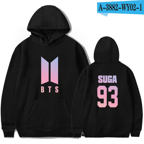 BTS Kpop Love Yourself Member Sweatshirt Hoodie - Black - theidolshop