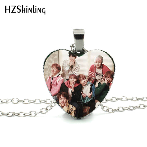 BTS Valentines Heart Necklace - theidolshop