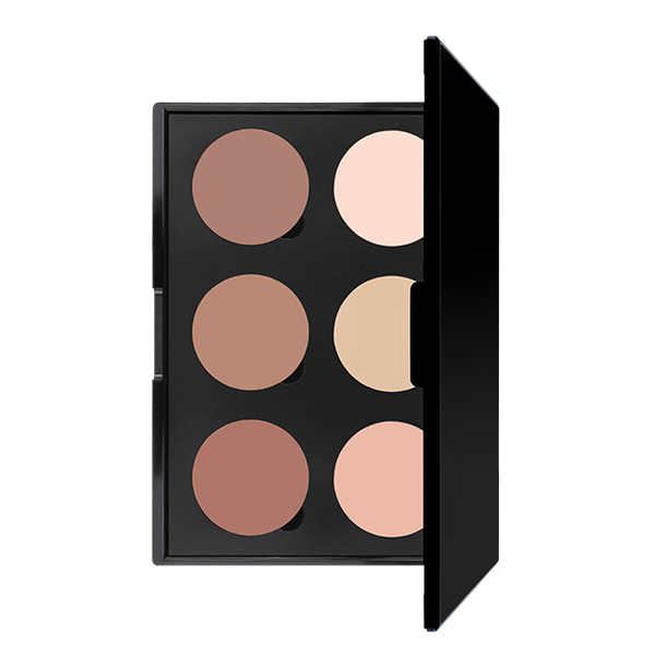 6 WELL CONTOUR POWDER PALETTE