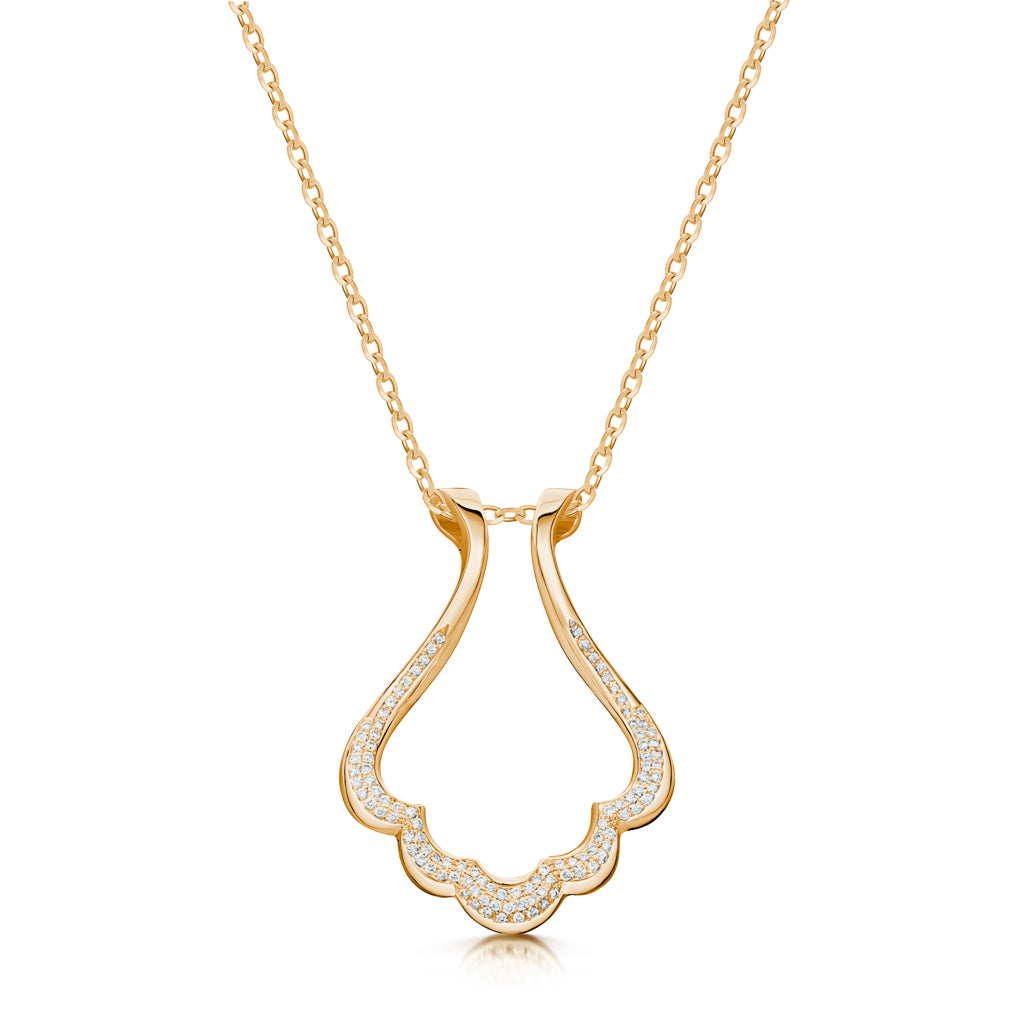 The Scallop Couture Ring Holder Necklace