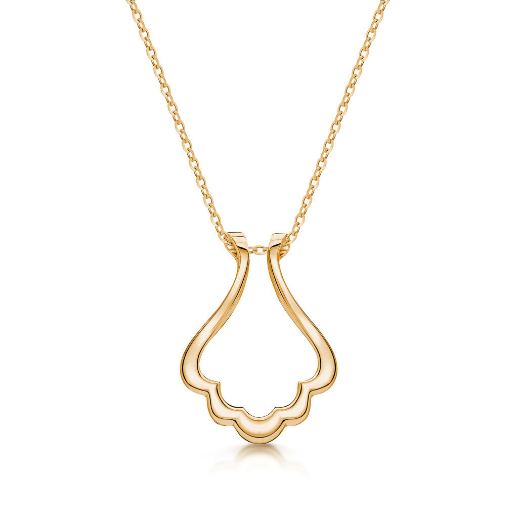 The Scallop Ring Holder Necklace
