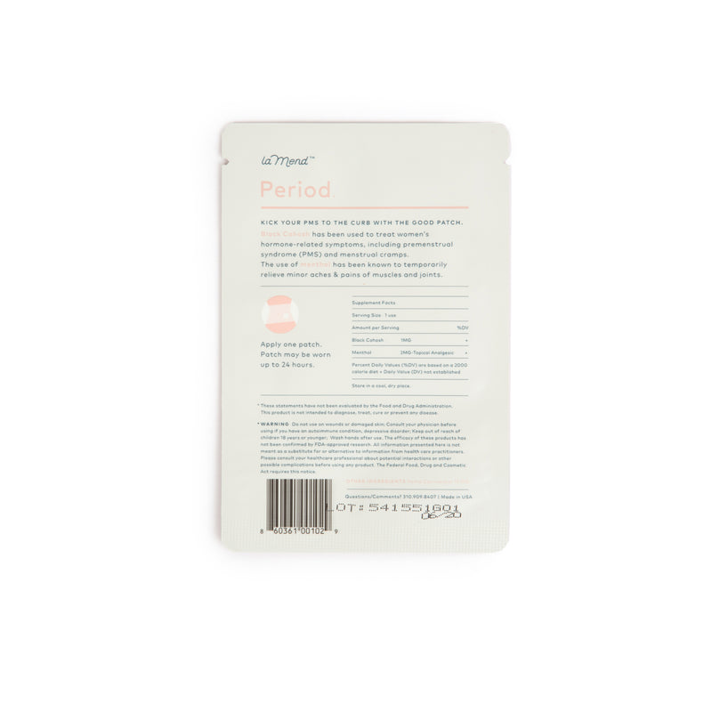 reverse side of plastic pouch including product ingredients and product features