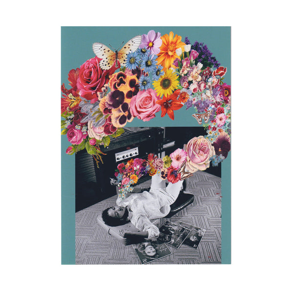 Plume Of Blooms Greeting Card