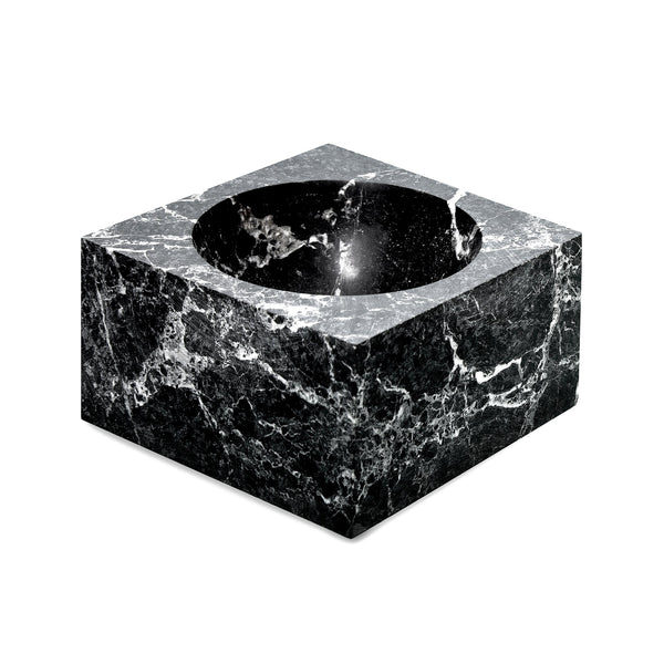 square black marble ashtray