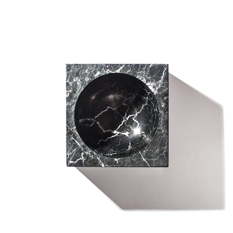 square black marble ashtray aerial view