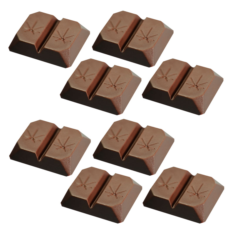 Chocolate squares unboxed