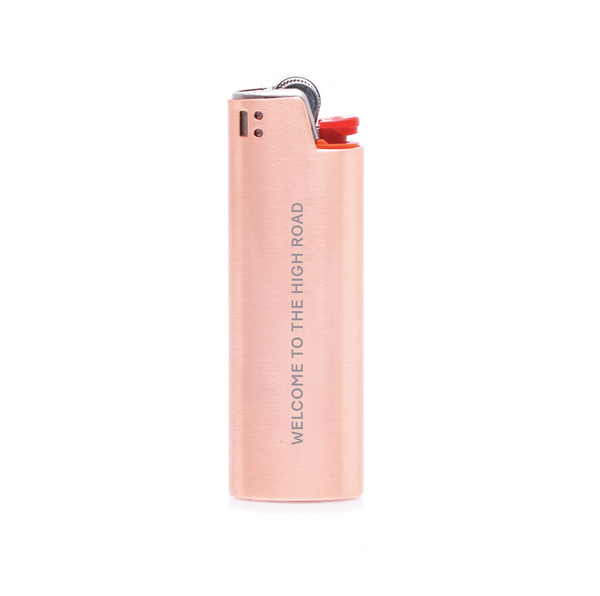 Miss Grass Rose Gold Lighter Case