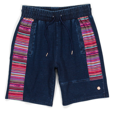 Cookies Peruvian Indigo Washed Striped Shorts