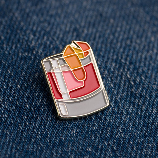 Negroni cocktail pin