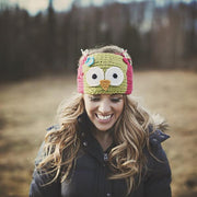 Kids OR Adult Owl Headwrap (fleece lined)