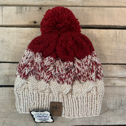 2 Toned Knit Hats