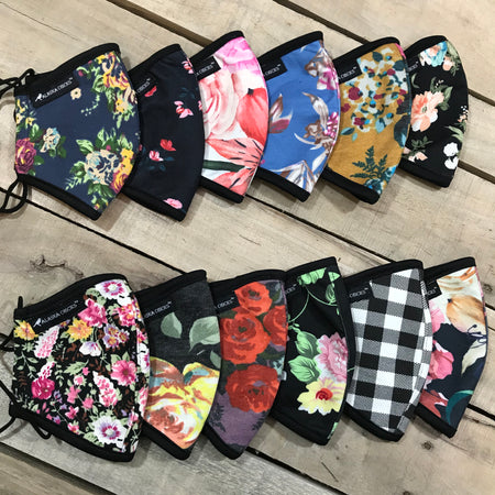Behind The Head Strap Floral/Plaid - variety pack of 12