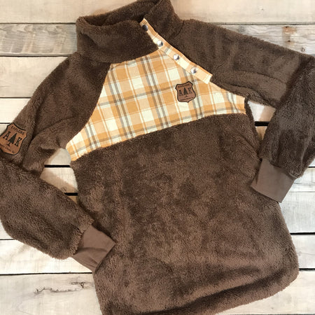 Chocolate Plaid Fuzzy - Flash Sale - all sales final