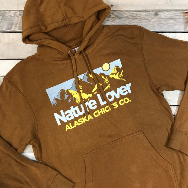 3D Mountain Hoodie - Bright Yellow Print