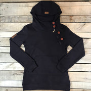 Long Side Zip Hoodie
