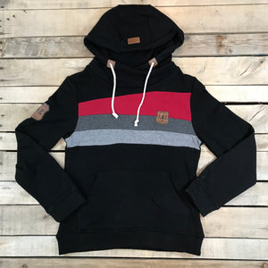 Striped Drawstring Hoody