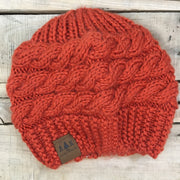 Alaska Chicks Knit Beanie with Leather Patch