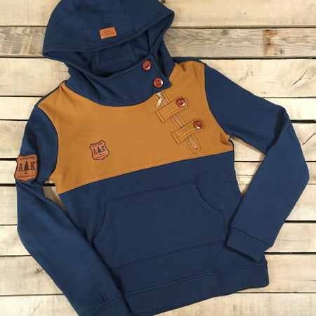Contrast Side Zip Hoodie - short length