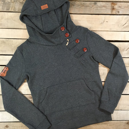 Side Zip Hoodie - short length