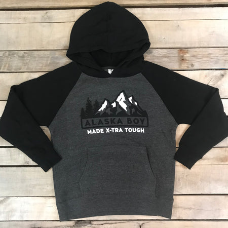 "Boy's ""Made X-TRA Tough"" Contrast Hoodie"