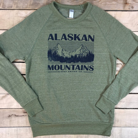 Alaskan Mountains Crewneck