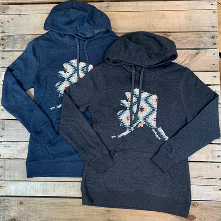 Aztec State Cowl Neck Hoodie