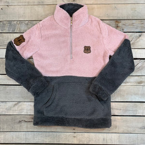 1/2 Zip Two Toned Sherpa Pullover