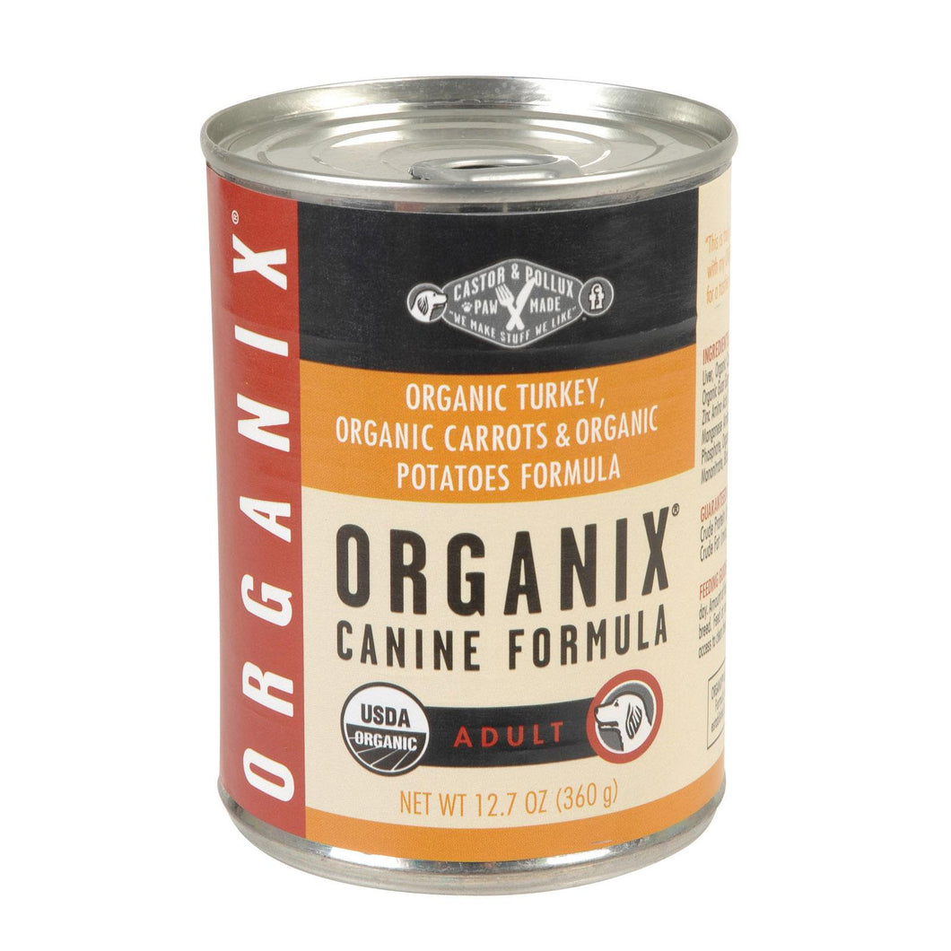 Castor And Pollux Organic Turkey Dog Food - Carrots And Potatoes - Case Of 12 - 12.7 Oz.