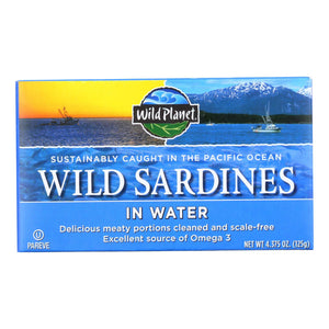 Wild Planet Wild Sardines In Spring Water - Case Of 12 - 4.375 Oz.