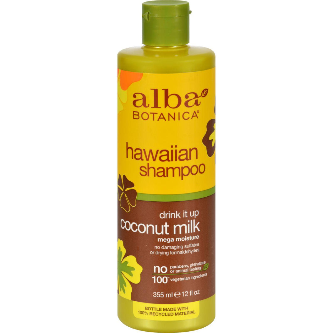 Alba Botanica Natural Hawaiian Shampoo Drink It Up Coconut Milk - 12 Fl Oz