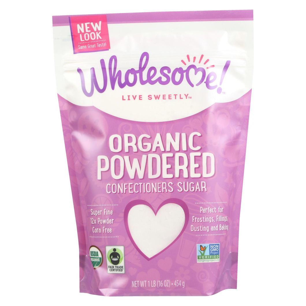 Wholesome Sweeteners Powdered Sugar - Organic And Natural - Case Of 6 - 1 Lb.