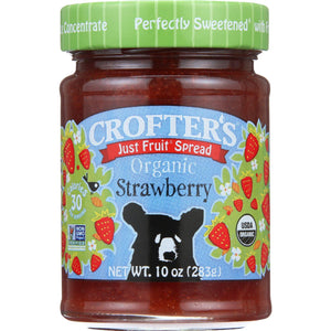 Crofters Fruit Spread - Organic - Just Fruit - Strawberry - 10 Oz - Case Of 6