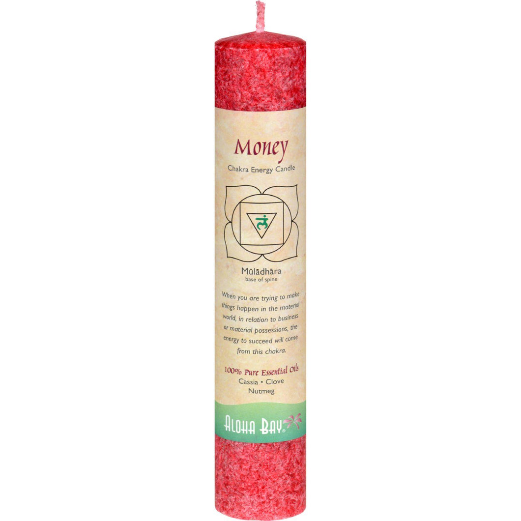 Aloha Bay Chakra Pillar Candle - Red - 8