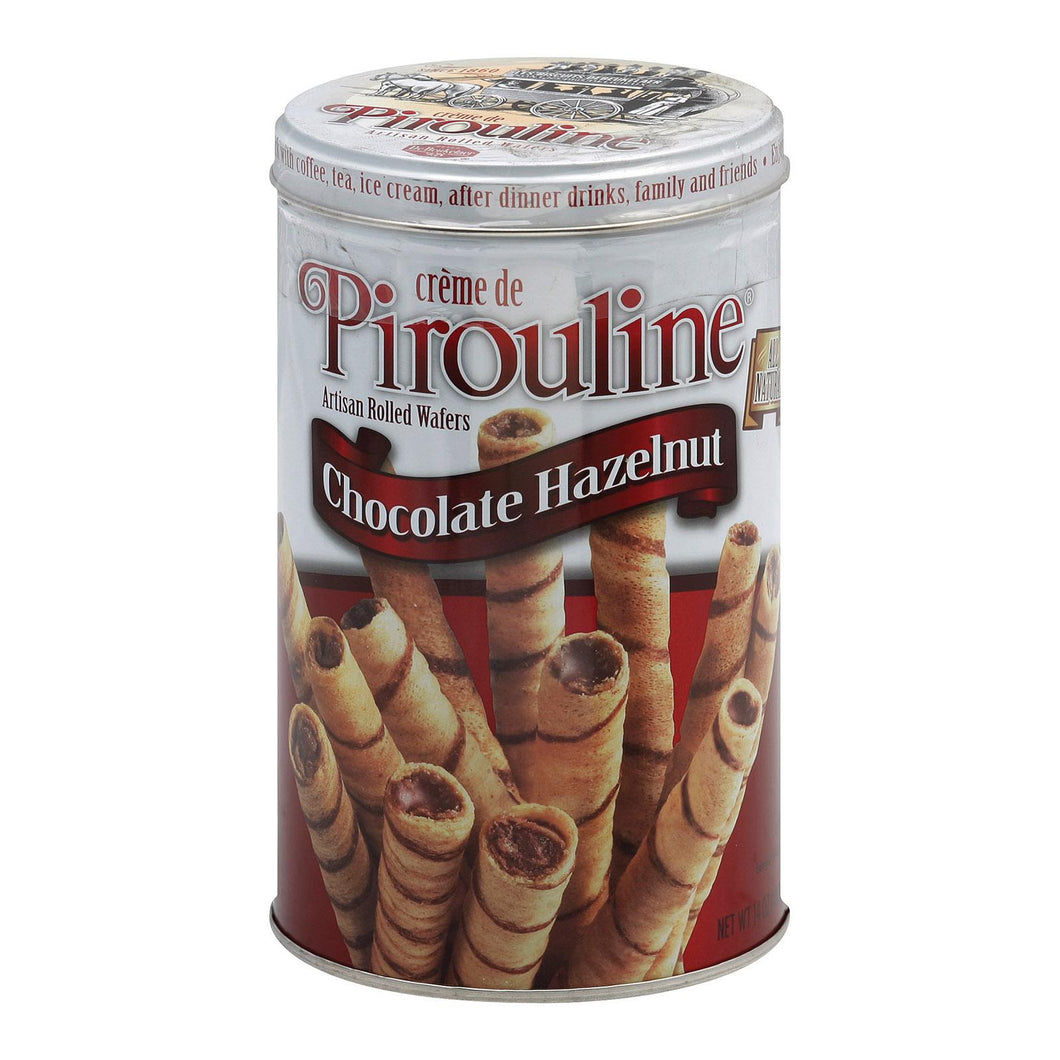 De Beukelaer Crme De Pirouline Rolled Wafers - Chocolate Hazelnut - Case Of 6 - 14 Oz.