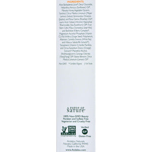 Andalou Naturals Creamy Cleanser For Combination Skin Meyer Lemon - 6 Fl Oz