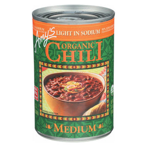 Amy's Organic Low Sodium Medium Chili - Case Of 12 - 14.7 Oz