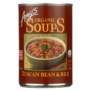 Amy's Organic Soup - Tuscan Bean & Rice - Case Of 12 - 14.1 Oz