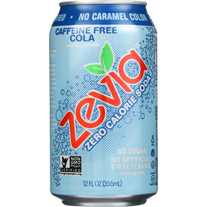 Zevia Soda - Zero Calorie - Cola - Caffeine Free - Can - 6-12 Oz - Case Of 4