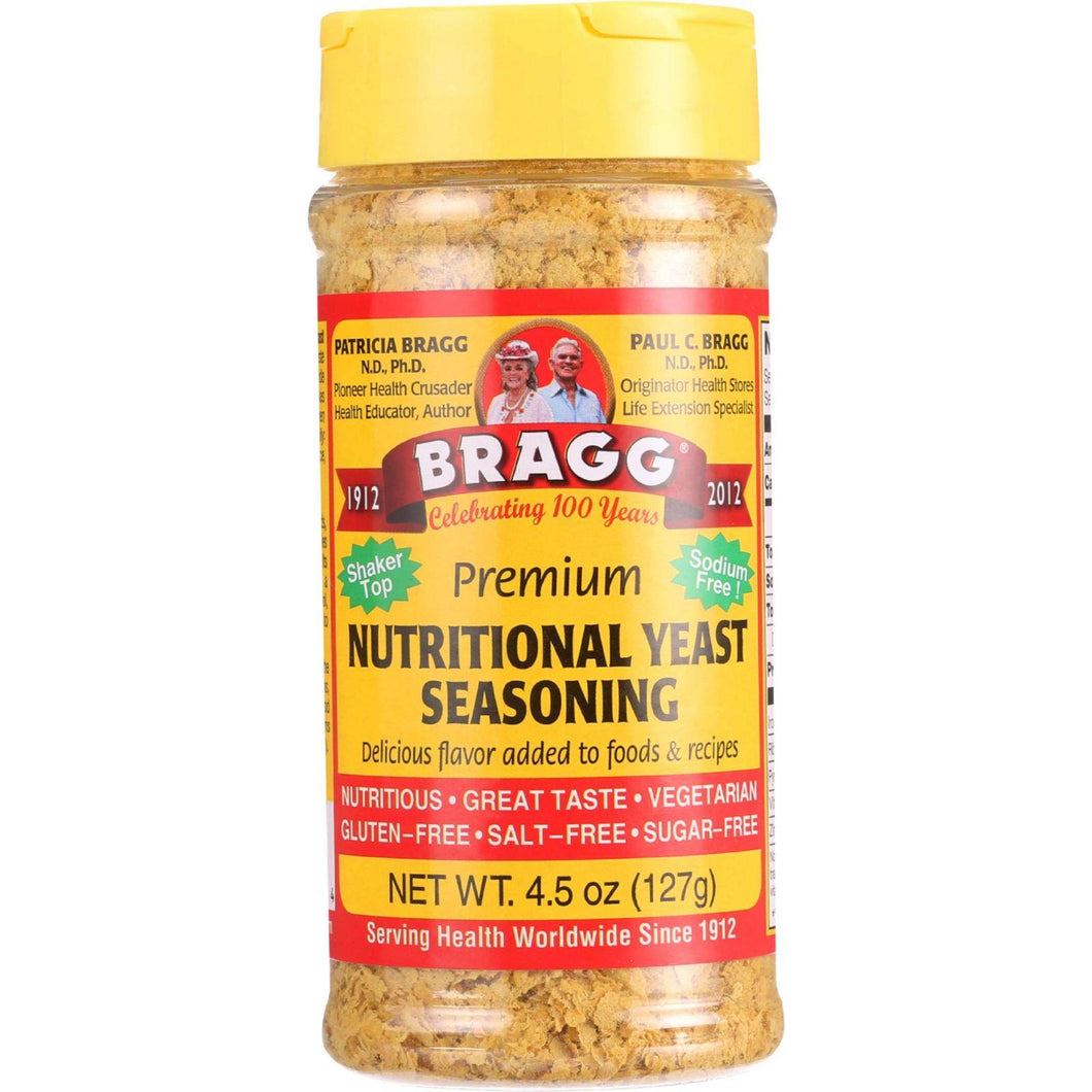 Bragg Seasoning - Nutritional Yeast - Premium - 4.5 Oz - Case Of 12