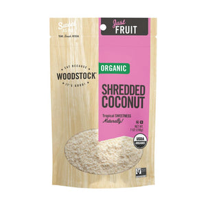 Woodstock Organic Shredded Coconut - Case Of 8 - 4 Oz.