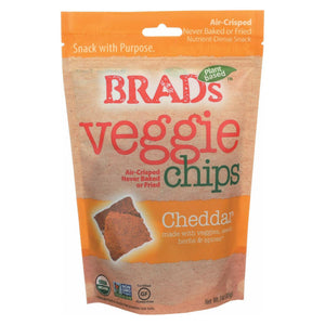 Brad's Raw Foods Raw Chips - Cheddar - Case Of 12 - 3 Oz.