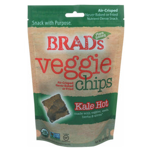 Brad's Plant Based Chips - Organic - Kale - Hot - Case Of 12 - 3 Oz
