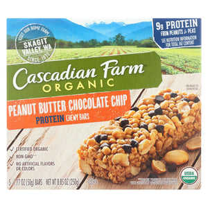 Cascadian Farm Organic Chewy Bars - Honey Roasted Nut - Case Of 12 - 8.85 Oz