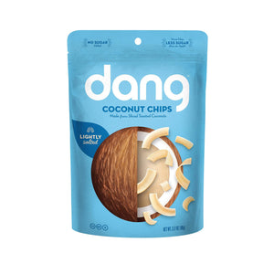 Dang Toasted Coconut Chips - Lightly Salted - Case Of 12 - 3.17 Oz.