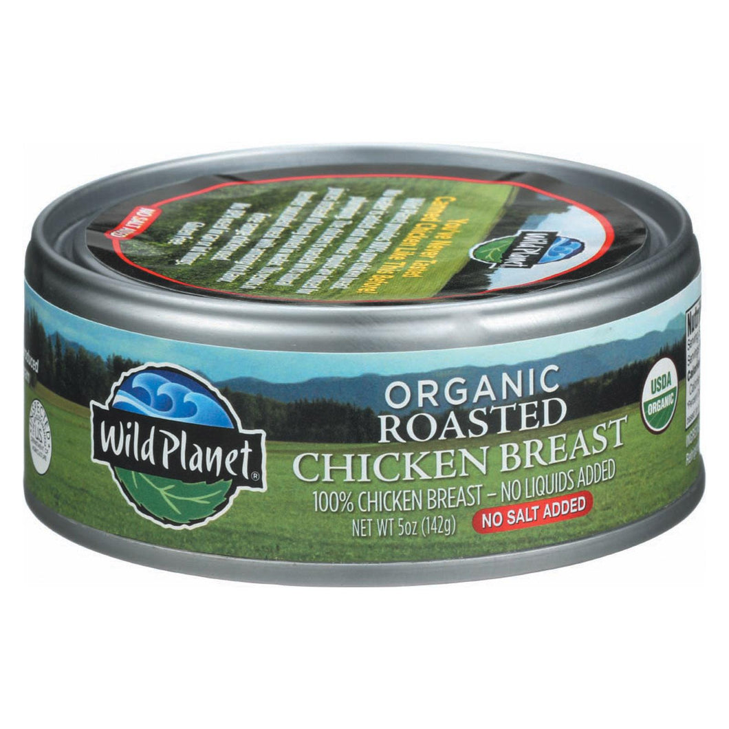 Wild Planet Organic Roasted Chicken Breast - No Salt Added - Case Of 12 - 5 Oz.