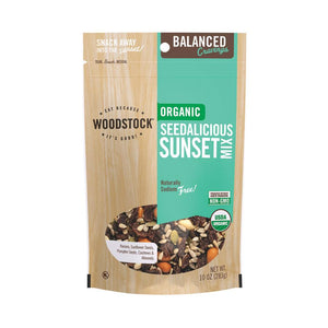 Woodstock Organic Seedalicious Sunset Snack Mix - Case Of 8 - 10 Oz.