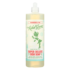 Rebel Green - Liquid Dish Soap - Frankincense And Pine - Case Of 4 - 16 Fl Oz.