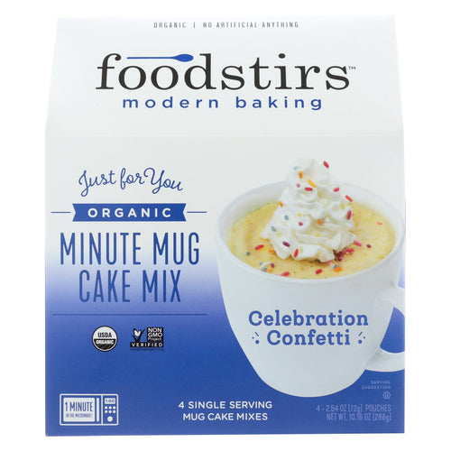 Foodstirs Minute Mug Cake Mix - Celebration Confetti - Case Of 6 - 10.16oz.