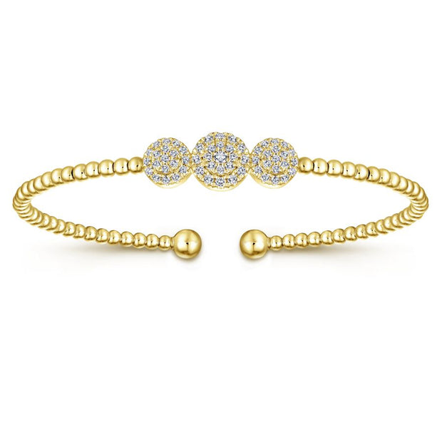Diamond & Yellow Gold Fashion Bangle