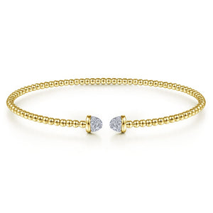 Diamond Fashion Yellow Gold Bangle
